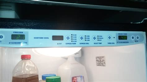 ge monogram refrigerator model number zfsbdrg ss doesnt hold  steady constant