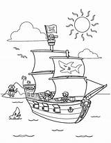 Coloring Pirate Ship Crew Drawing Sea Treasure Remus Romulus Thermometer Chest Clear Pearl Line Printable Pirates Boys Galleon Simple Getcolorings sketch template