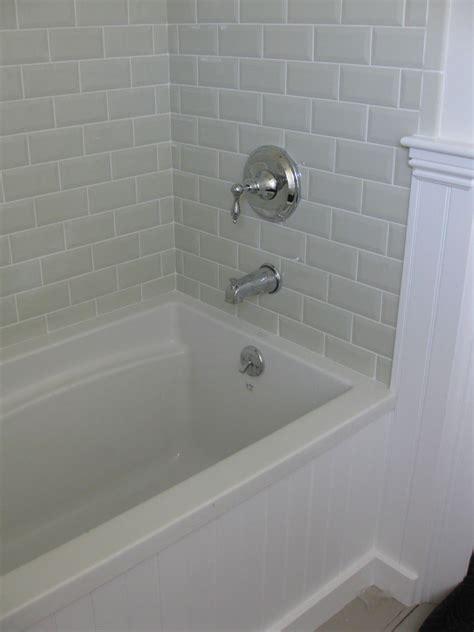 love  beveled subway tile master bathroom