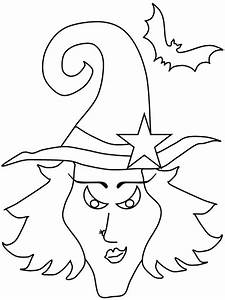 Free coloring pages of witches masks