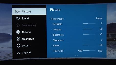 samsung uejs js tv picture settings tips
