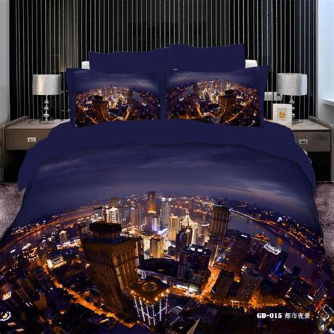 Cheap 3d Bedding Sets  Best 3d Vivid City Night View