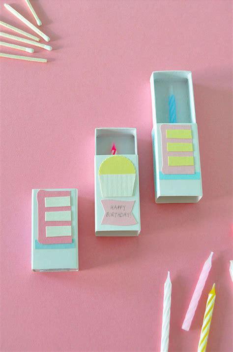 craft card ideas matchbox birthday card 1452
