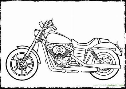 Harley Davidson Coloring Dyna Drawing Motorcycle Sheets