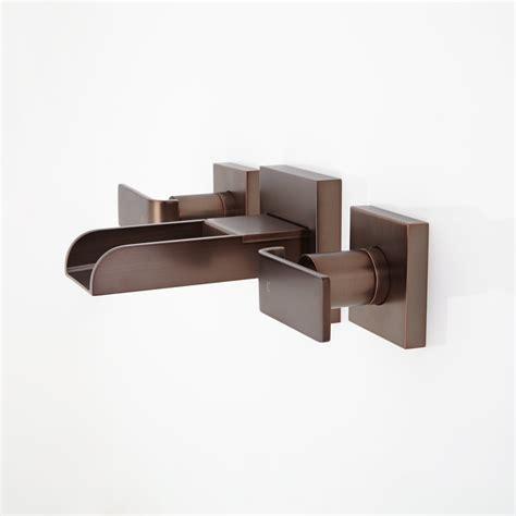 wall mount waterfall tub faucet signature hardware maleko wall mount waterfall bathroom