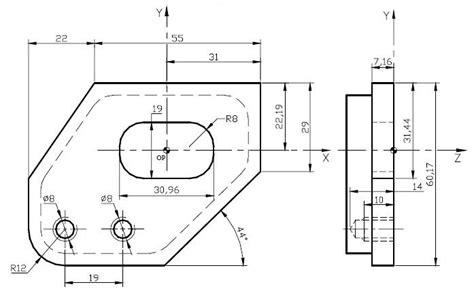 num cnc mill program exle with g45 pocket milling g81 g84 g87 helman cnc