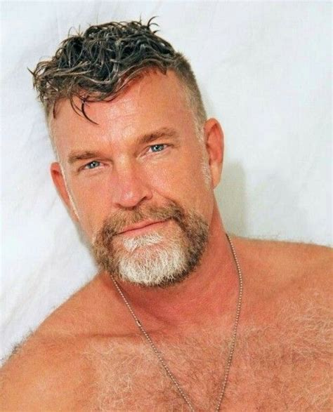 hairy chest sexy muscle mature men tattoos beards