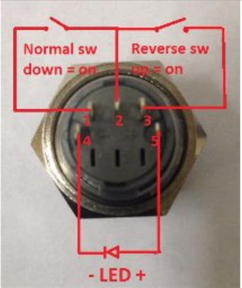 Switches Pin Push Button Switch With Led Wiring
