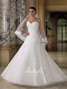 sweetheart strapless wedding dress with beaded lace With strapless sweetheart wedding dresses