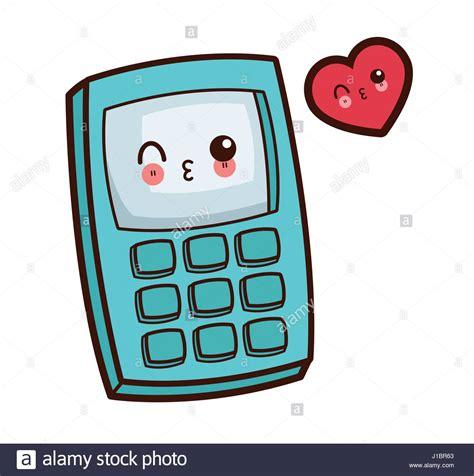calculator math character kawaii stock  calculator