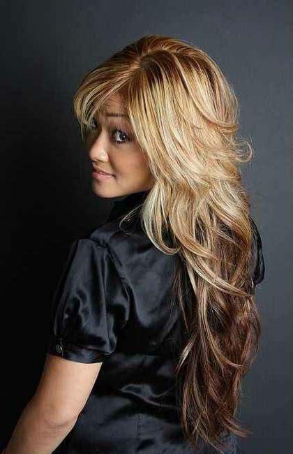 haircuts  long hair  bangs  layers hairstyle