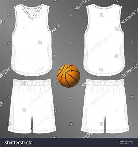 sports series realistic team basketball uniform stock