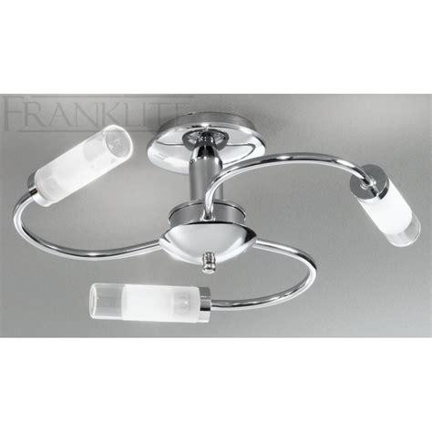 bathroom ceiling light franklite fl2254 3 semi flush chrome bathroom ceiling