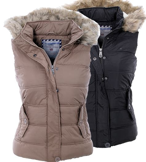 weste damen fell sublevel damen weste jacke stepp weste kapuze warme weste mit teddy fell ebay