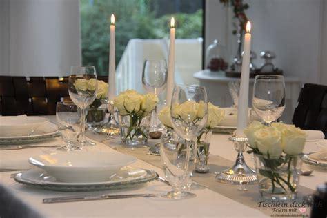 candle light dinner   zur silberhochzeit