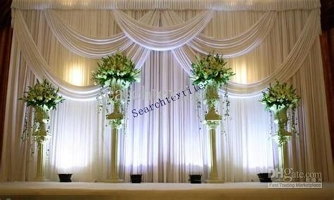 2019 top sale wedding backdrop curtain in white color