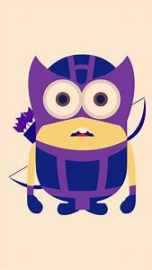 Hawkeye Minion Avengers iphone 6 plus wallpaper HD ...