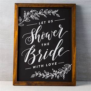 bridal shower chalkboard cork collection With wedding shower signs