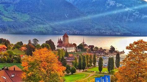 Spiez Spiez Switzerland Stunning Spiez Castle Over