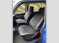VW T4 Seat Covers Black with Red Piping Car Seat Covers