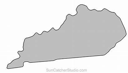 Kentucky Clip Outline State Map Printable Shape