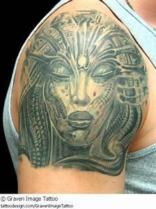 Giger Biomechanical Tattoo On Shoulder | Tattooshunt.com