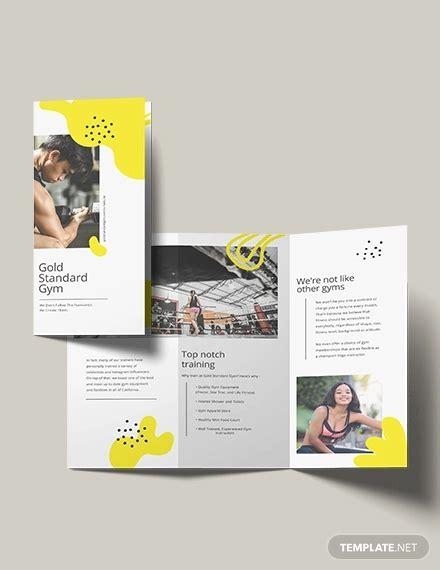 examples  fitness brochure design psd ai