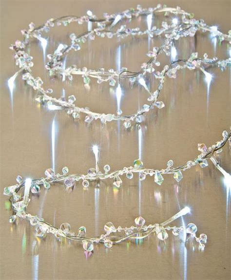led lighted garland 6 foot clear bendable wire beaded garland that bohemian