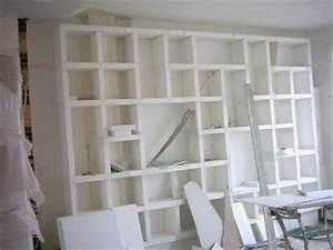 bibliotheque instant precieux With bibliotheque en carreau de platre