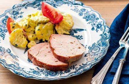 fleischkaese mit kartoffelsalat schweizer familie rezepte
