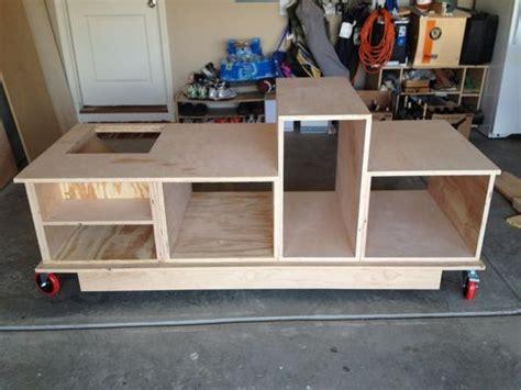table  mobile workstation plans cedar spray woodlore