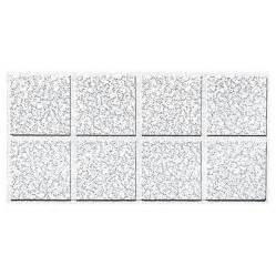 shop armstrong cortega 10 pack white fissured 15 16 in drop acoustic panel ceiling tiles common