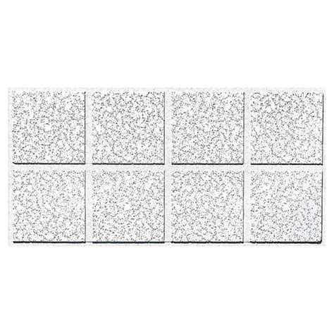 shop armstrong cortega 10 pack white fissured 15 16 in