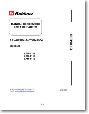 diagrama manual easy lam 1108 lam 1112 y lam 1116