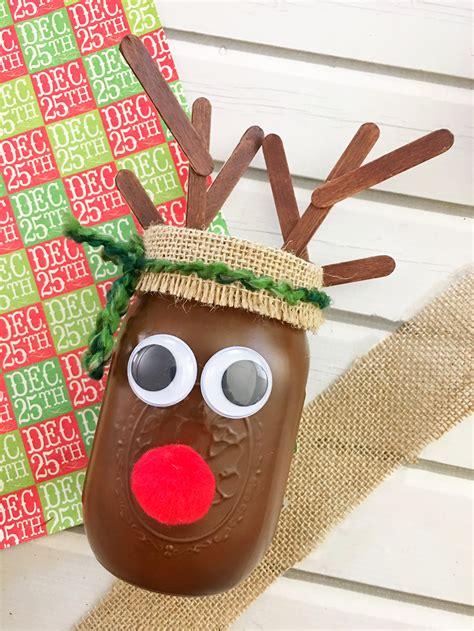 Diy Christmas Reindeer Mason Jar  Onion Rings & Things