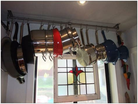 wall mounted pot rack loccie  homes gardens ideas