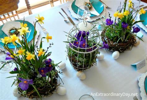 Bird's Nest Themed Easter Table