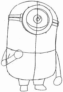 How to Draw Tim the Minion from Despicable Me with Easy ...