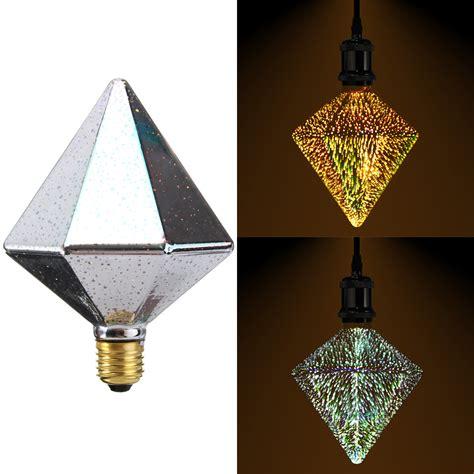 decor glass e27 4w polyhedron led retro edison decor glass bulb light l ac85 265v alex nld