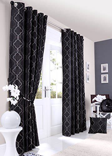 how to faux silk luxury curtains embroidered ready made
