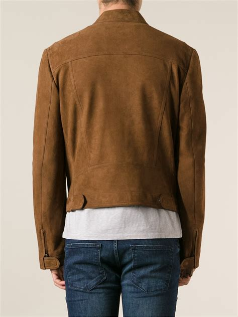 tom ford leather lyst tom ford leather jacket in brown for