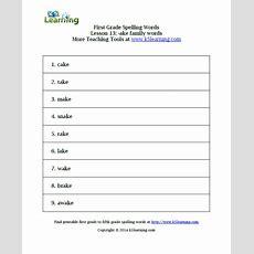 First Grade Spelling Words  K5 Learning