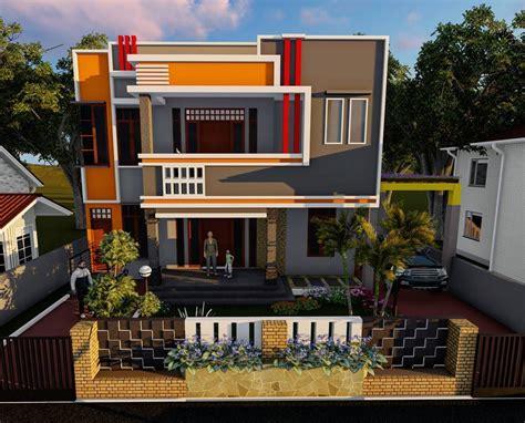 desain rumah minimalis  lantai  atap desain