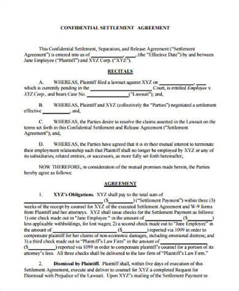 sample payment agreement forms   ms word