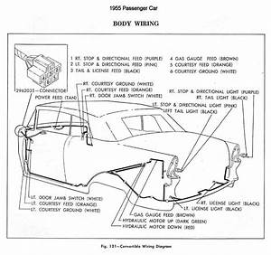 Body Wiring Diagram For 1955 Chevrolet Passenger Car Convertible  59680