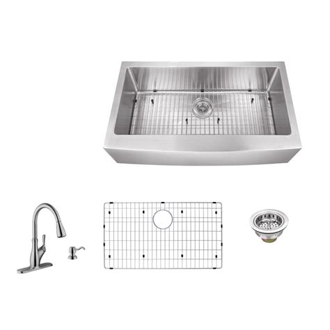 34 stainless steel kitchen sink schon all in one farmhouse apron front stainless steel 34