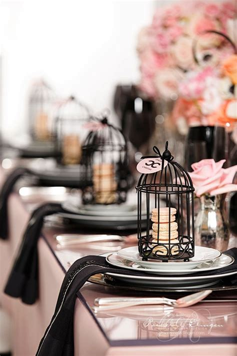 coco chanel inspired wedding decor theme color