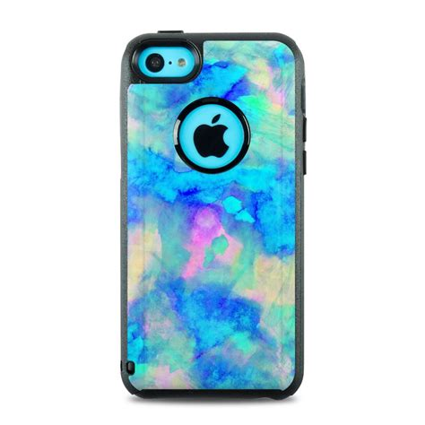otterbox commuter iphone  case skin electrify ice blue