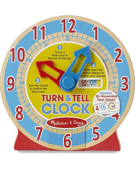 melissa doug che ora  orologio  legno  imparare