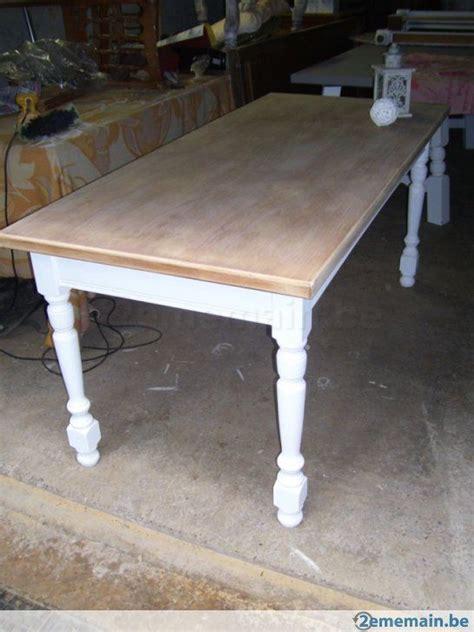 table en bois de a vendre table de ferme patine blanche et bois brut d 233 co cosy meubles cuisine et tables